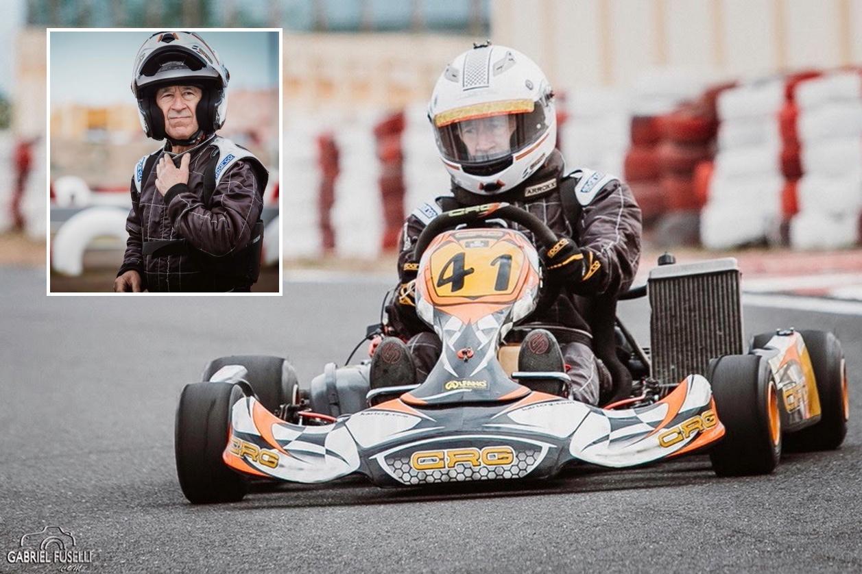 Piloto a los 78 años: cuando la pasión por el kart no tiene edad