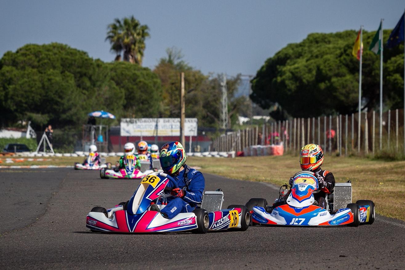 Arranque con tripletes de victorias en el andaluz de karting 2021
