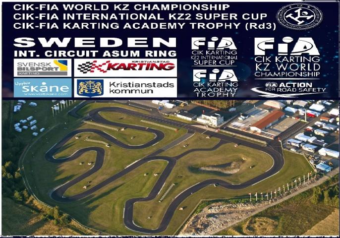 Mundial CIK-FIA de KZ, KZ2 Int. Super Cup y Academy Trophy en Suecia con pilotos españoles