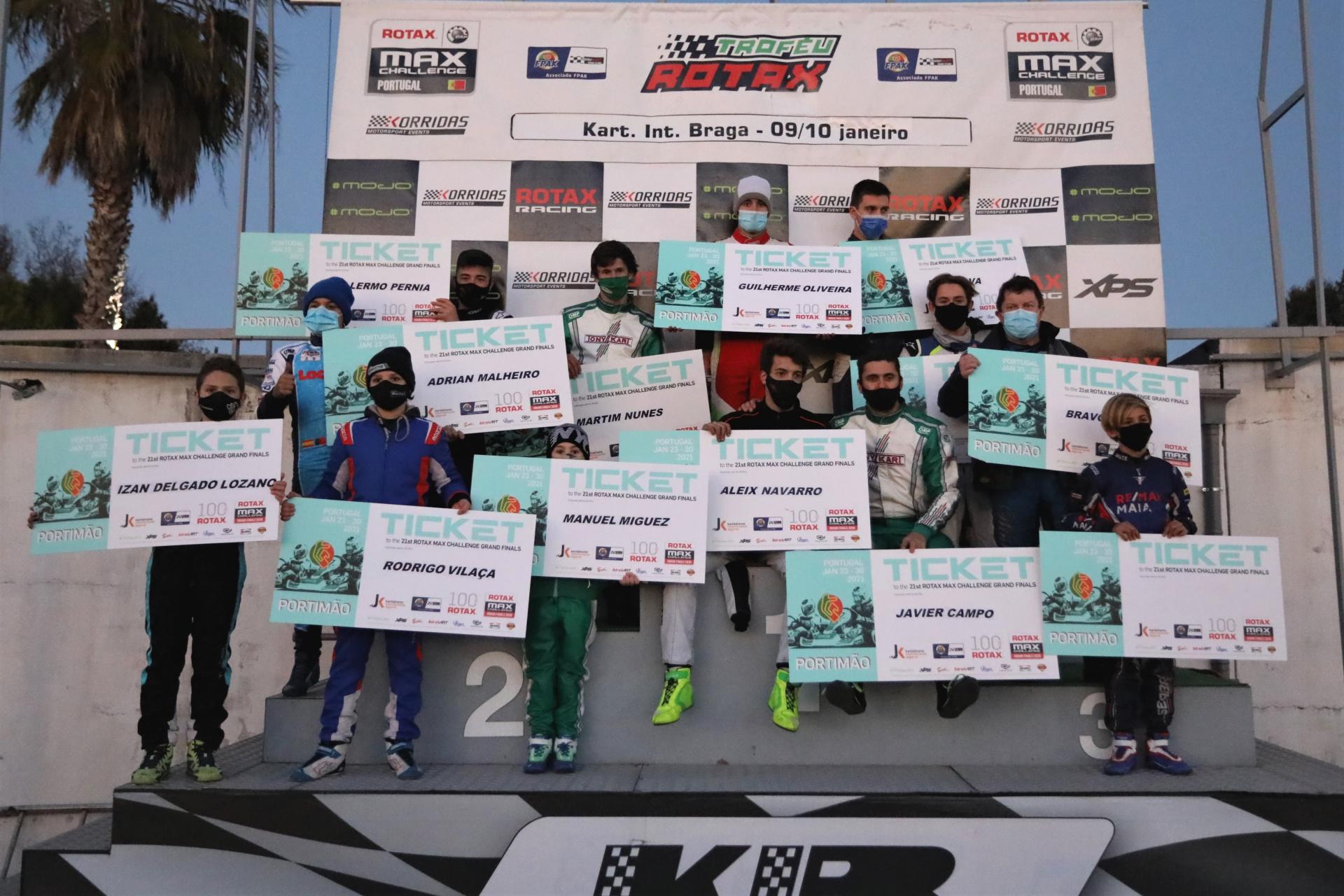 Trofeu Rotax - Final positivo para nuestros representantes en el Kartodromo Internacional de Braga