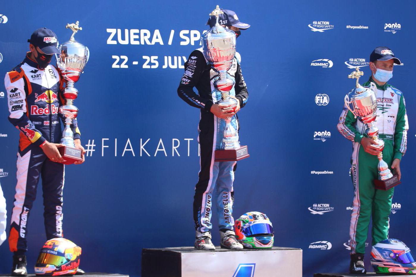 Europeo FIA Zuera - Slater y Antonelli campeones, Rubén Moya brilla