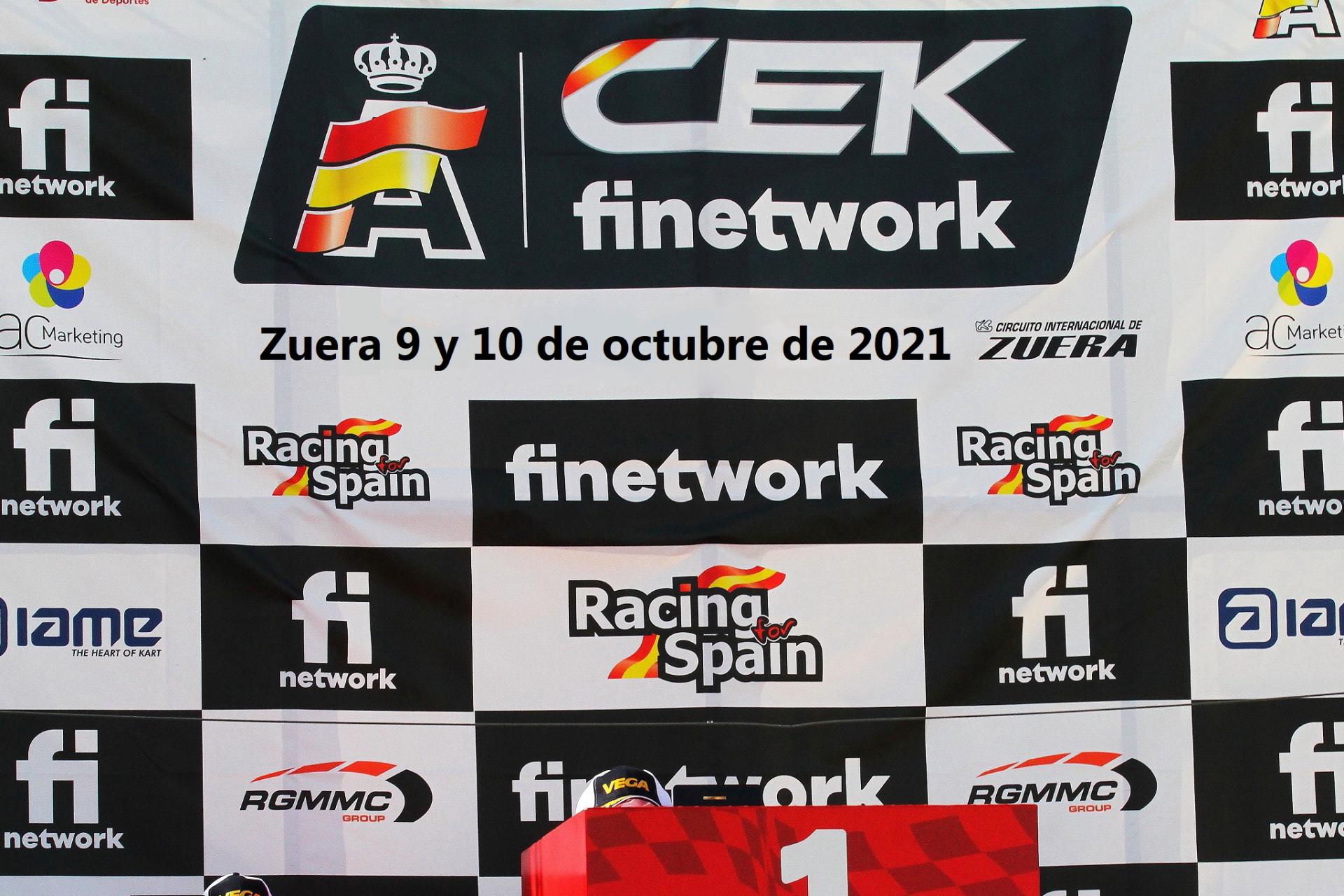 Zuera cerrará el Campeonato de España 2021